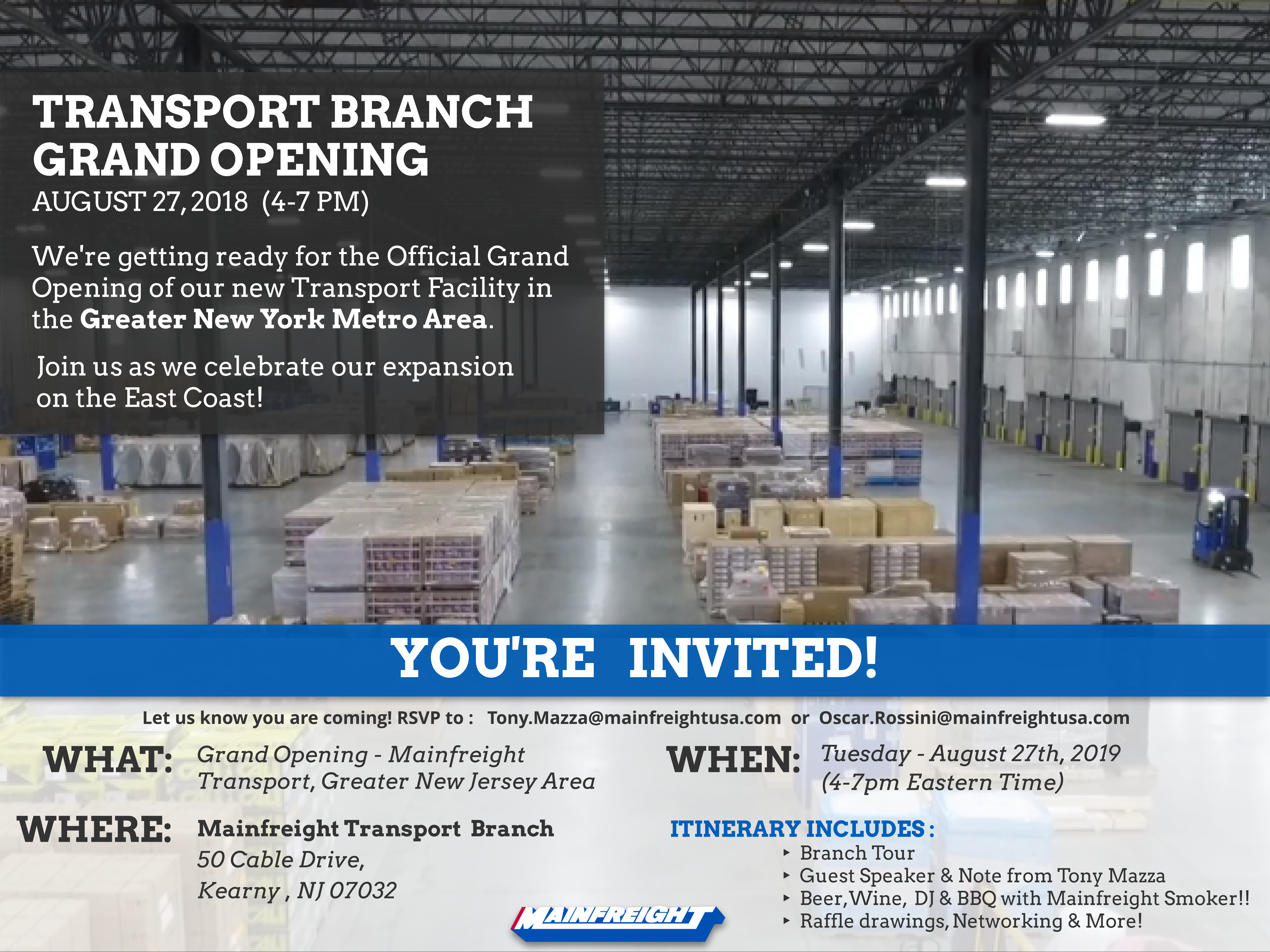 Newark Transport Branch  Grand Opening Invite