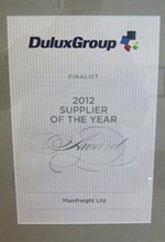 2012 Dulux Supplier of the Year Award Finalist
