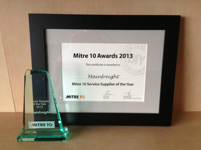 Mitre 10 Service Supplier of the Year Award